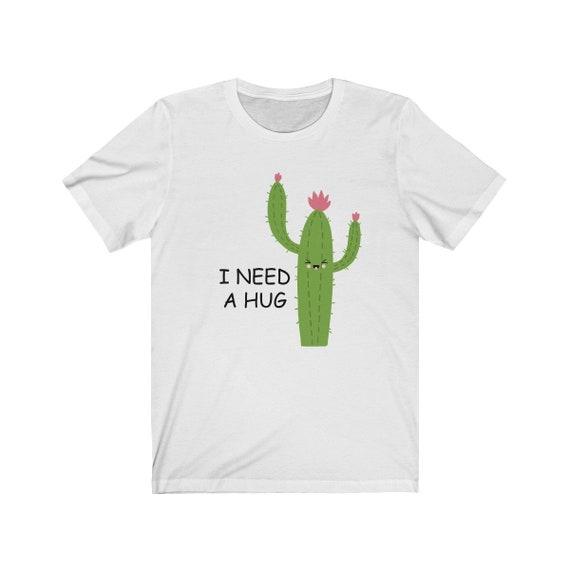 No Hugs Cactus Womens Baseball T Shirts Long-Sleeve Womens Raglan Tops Black