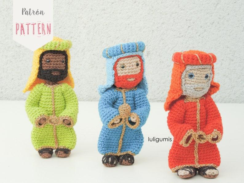 9c432eac7 Pattern to crochet three Wise men amigurumis crochet Wise men