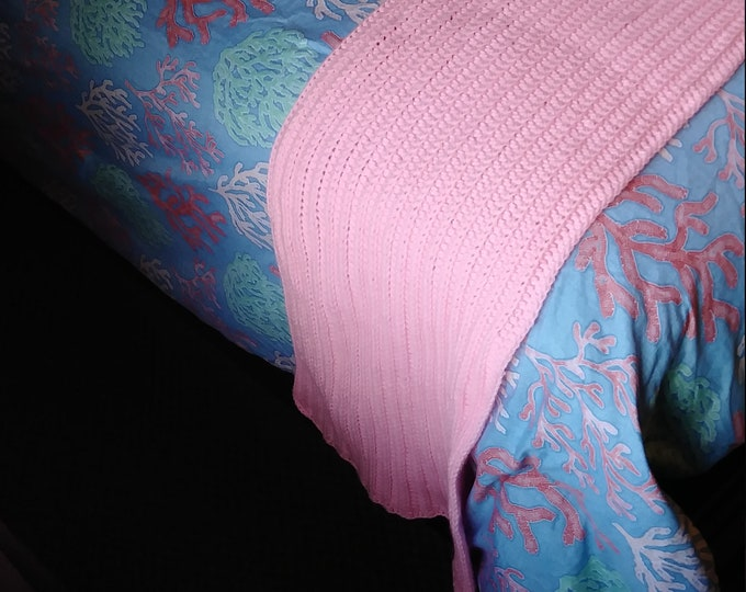 Ribbed Cotton Bed Runner