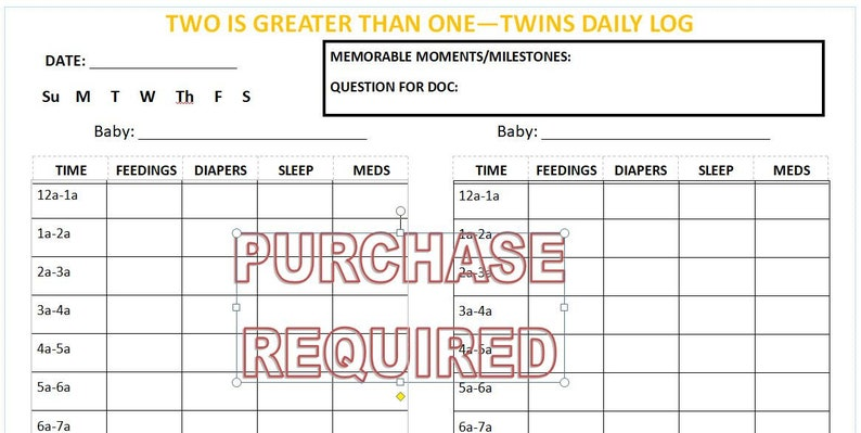 picture relating to Twins Printable Schedule named Twins - Day-to-day Plan Tracker - Printable