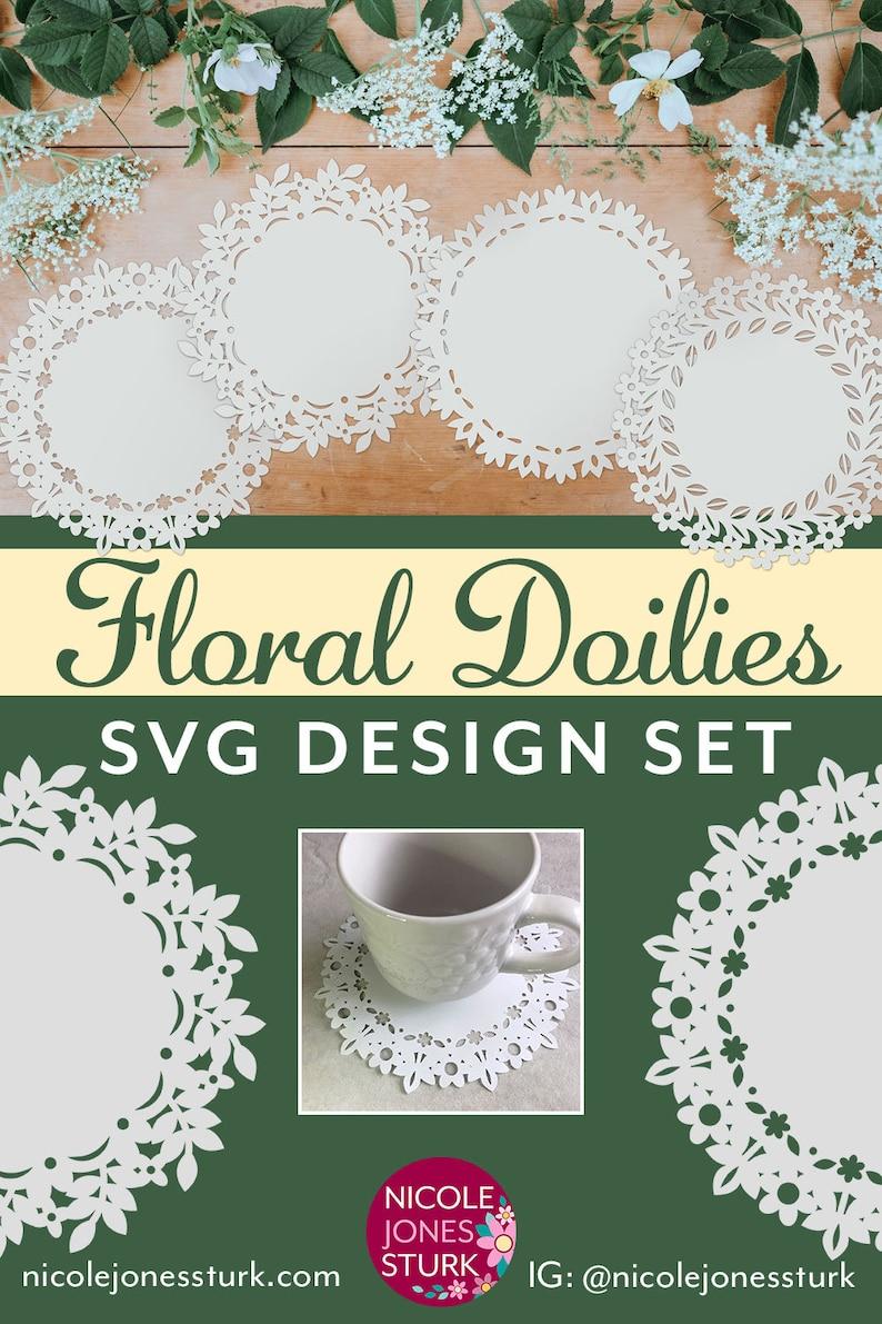 Floral Doilies SVG Designs  cut file design collection  SVG /& PNG  digital files  instant download