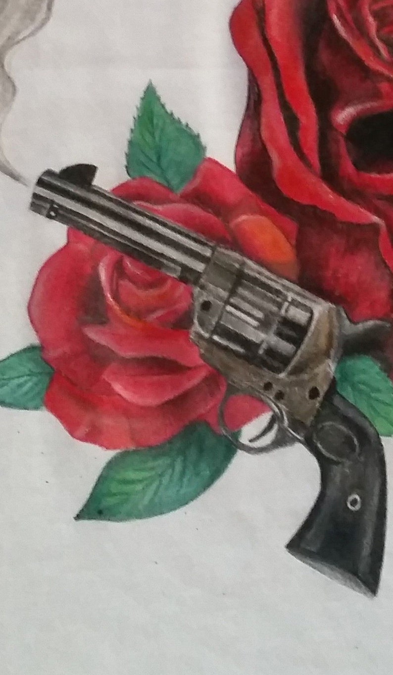 6ffa91fb81d Hand painted T-shirt Guns and Roses Fan Tshirt Hand Painted