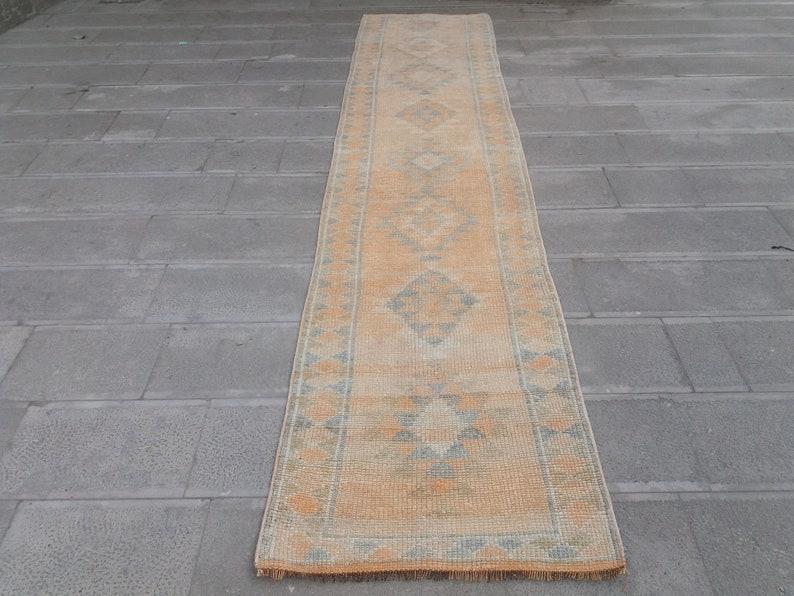 2.6 x 12 feet Free shipping  Vintage runner rug Oushak image 0