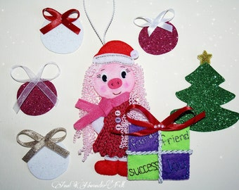 christmas pig wishes christmas pig ornaments soft christmas decorations pig gifts pig ornament cute pig christmas gifts new year pig