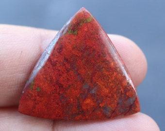 Arizona Southwestern Pendant Focal Gemstone Cabochon Cuprite Red Metallic Semiprecious Stone
