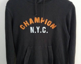 8c37bad26a5c7 Vintage 90s CHAMPION hoodie big logo sweatshirt/champion nyc/classic  logo/champion pullover jumper