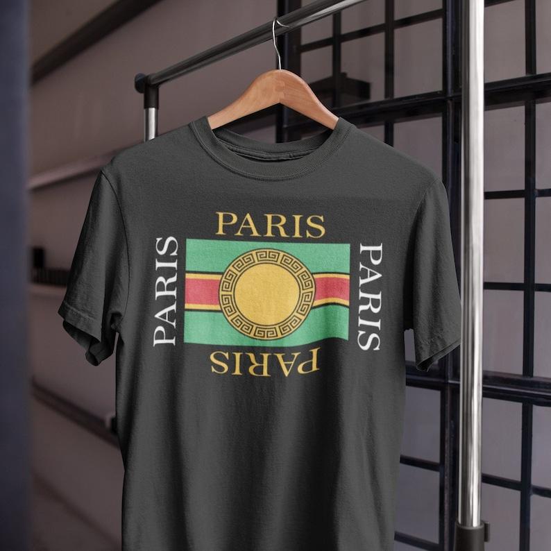 776a8bc823c6 Paris shirt for men Gucci shirt shirt French shop Versace | Etsy