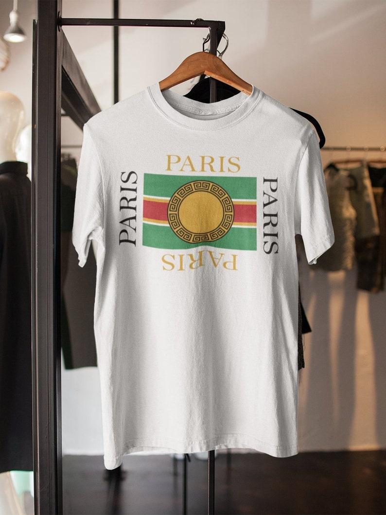 3bc34d6eb Paris shirt for men Gucci shirt shirt French shop Versace | Etsy