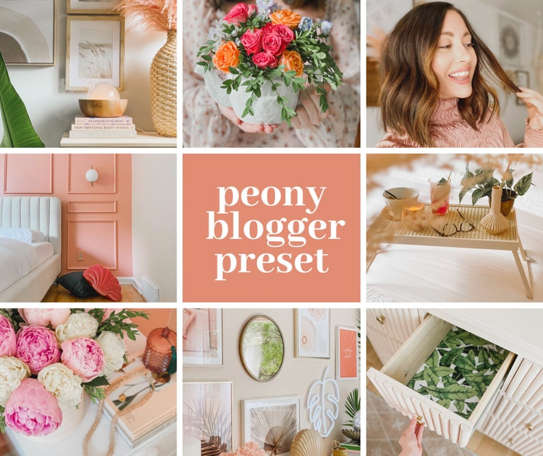 Peony Home and Lifestyle Blogger Preset image 0