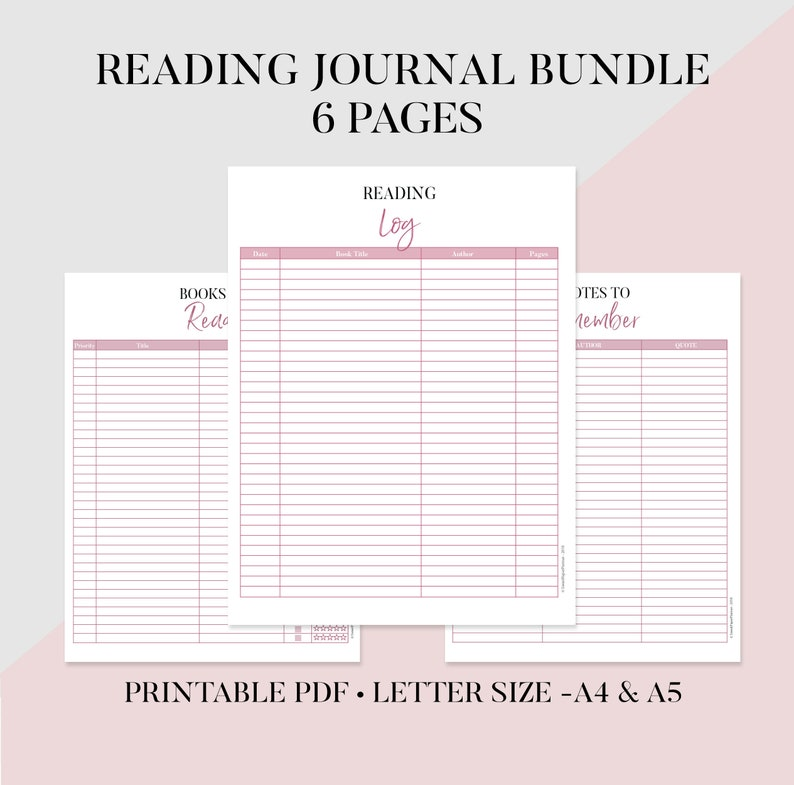 photo regarding Printable Reading Log referred to as Studying Magazine Package Printable, Studying Checklist, Looking at Log, E-book Overview, Ebook Toward Read through, Reserve Magazine, Guide Followers Magazine, Reserve Companion Present