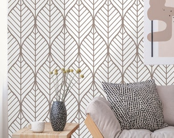 Wallpaper Brown Bloom #172 Self-adhesive Wallpaper Wallpaper Peel and Stick Wallpaper Classic Wallpaper Removable Wallpaper