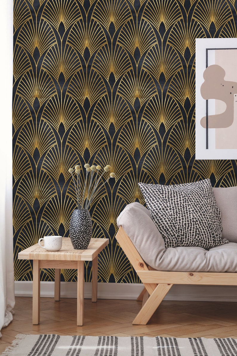 Removable Wallpaper  Peel and Stick Geometric Wallpaper  image 0