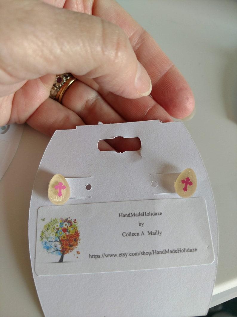 Cross Easter Pierced Earrings