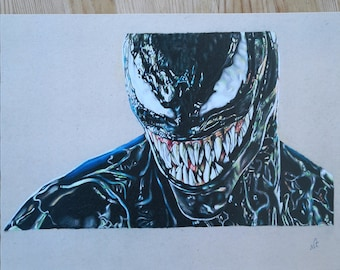 Venom Drawing Etsy