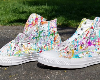 ac920cc0849e Custom Splatter Paint Shoes