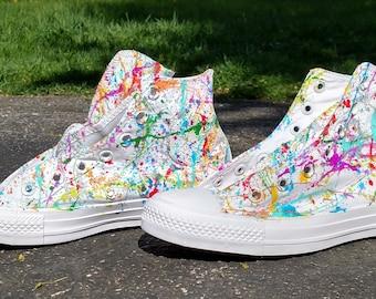 53fd804d6959b2 Custom Splatter Paint Shoes