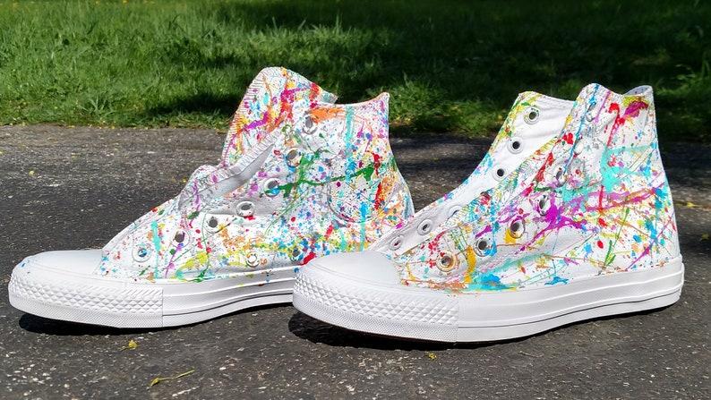fffd9645b2f19 Custom Splatter Paint Shoes