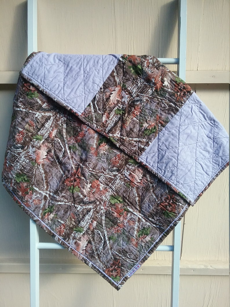 Camouflage baby quilt