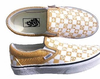 efb1dabbf0 Custom Slip on Vans, inspired my luxury brands