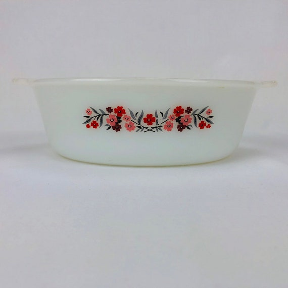Fire King Floral Primrose Pattern Dishware 6 Piece Set