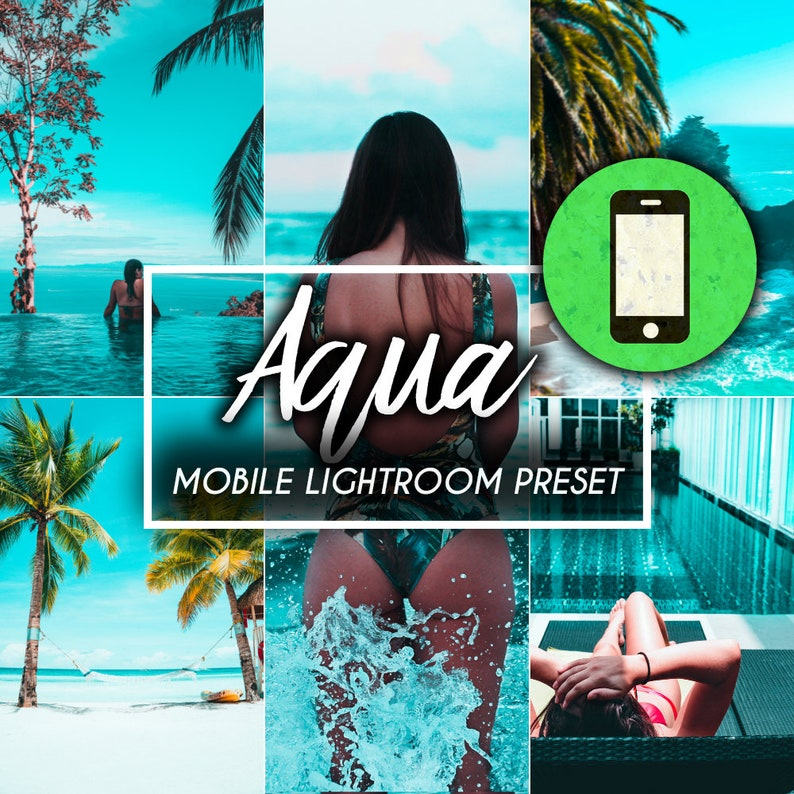 Aqua Beach Lightroom Mobile Presets, lightroom presets, blogger presets,  mobile presets, instagram presets, lifestyle presets, travel preset