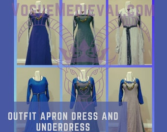 Outfit: Norse Apron and Underdress *Custom* MADE TO ORDER