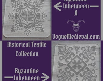 Byzantine Inbetween Historical Inspired Acrylic Stamp for Fabric/Leather/Clay/Soap Block Print