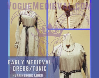 Early Medieval Tunic (Dress/Underdress) *Custom* MADE TO ORDER