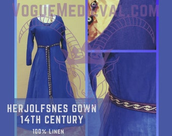 Custom: Herjolfsnes Gown 14th Century *MADE TO ORDER*