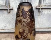 Big Vase with Grape Vines, antique home decor