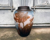Big Vase with Red Flowers, antique home decor