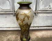 Big Vase with Dragonfly, antique home decor