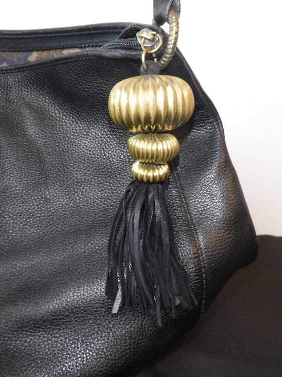 Serapide by Futura Black Handbag with Tassel
