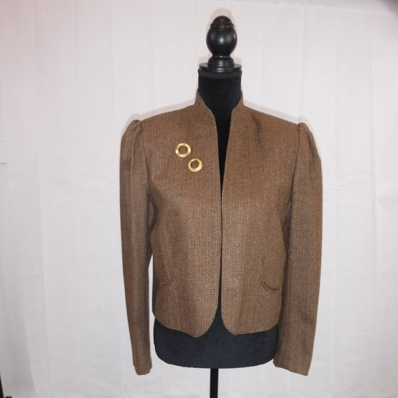 Vintage blazer with puff sleeves