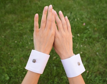 Summer fashion women Blue women office cuffs Detachable cuffs Wear for Lady