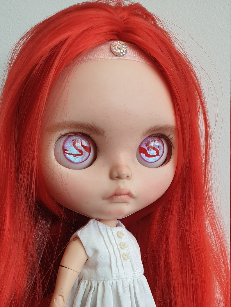 28 Eye chips red chinese Dragon