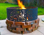 Fire Pit Ring UK Star Wars DØ0.9m Firepit Patio Heater Garden Metal for Christmas Bonfire Outdoor Party  Gift for him Death Star Darth Vader