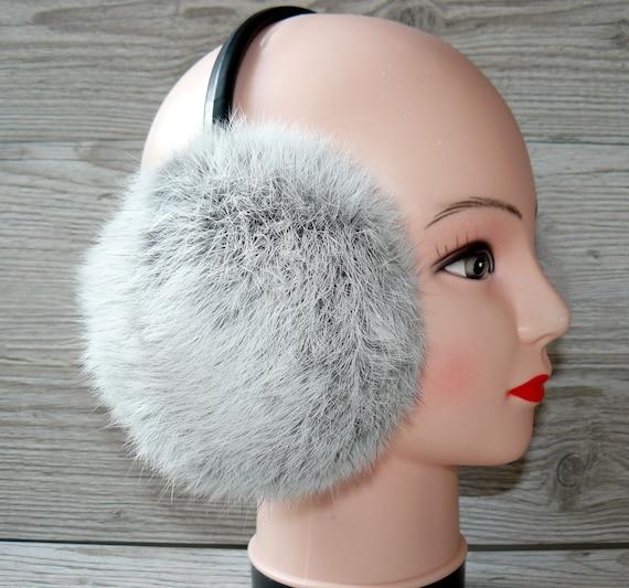 Color : Light Purple Rabbit Ear Protector with Loop Ear for Girls Ladies Warm Earmuffs