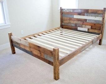 Rustic Bed Frame Etsy