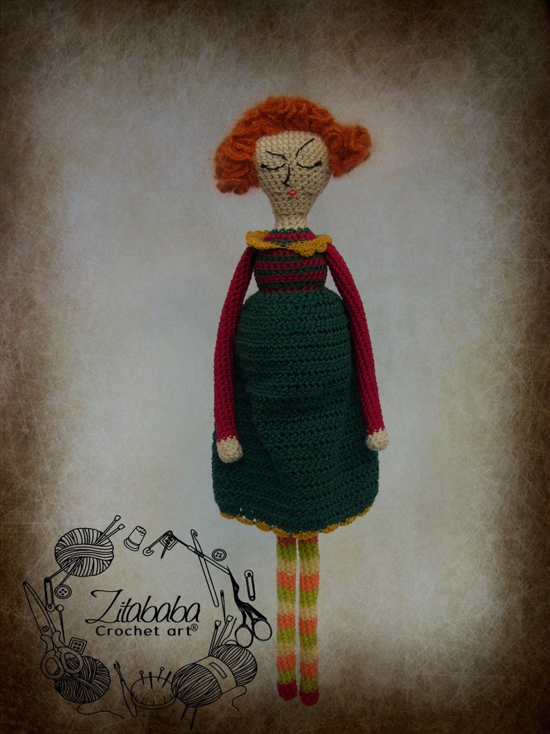 amigurumi crochet doll pattern custom design handmade gift