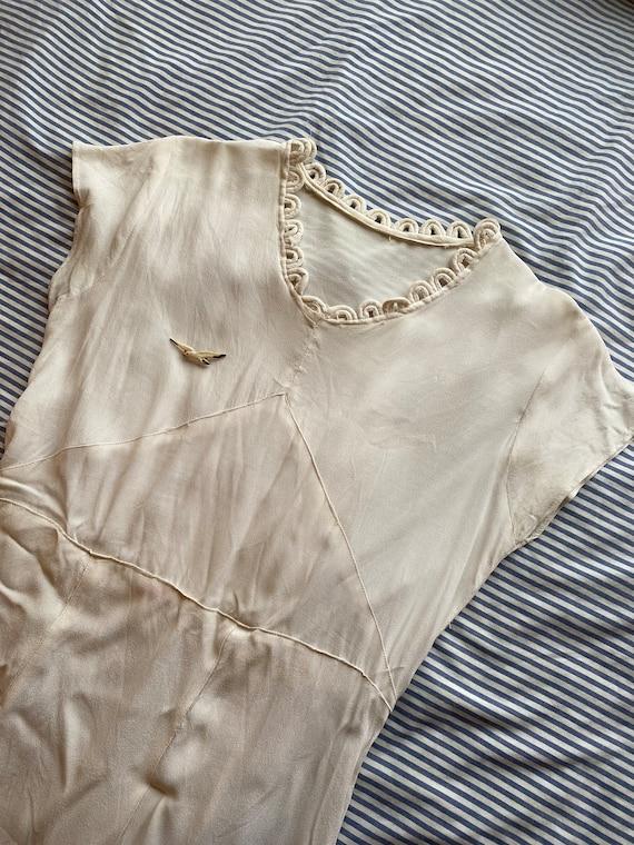 Stunning 1930s Cream Dress