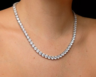 fb992a4db0f1e Diamond tennis necklace | Etsy
