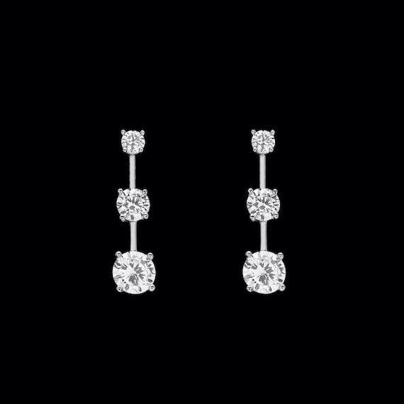 Emerald Cut Halo Round Created Diamond Stud Earrings 14k Yellow Gold 1.5CT T.W