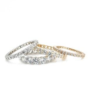 14k white gold over 3.50ct diamond d vvs1 engagement ring round Christmas gift