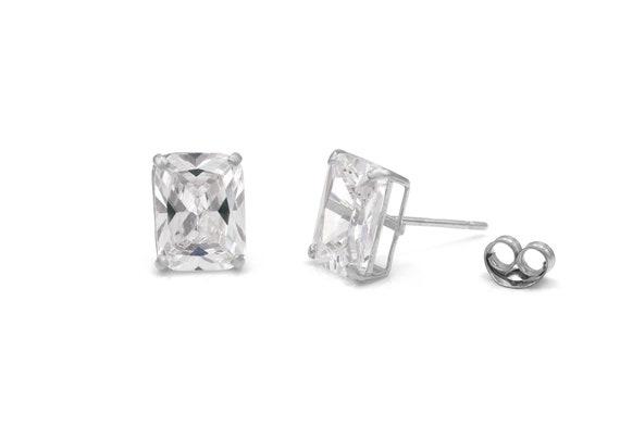 2.00 ct Round Brilliant Cut Brown Diamond Stud Earrings in 14k 585 White Gold Brilliant Cut Basket Screw Back