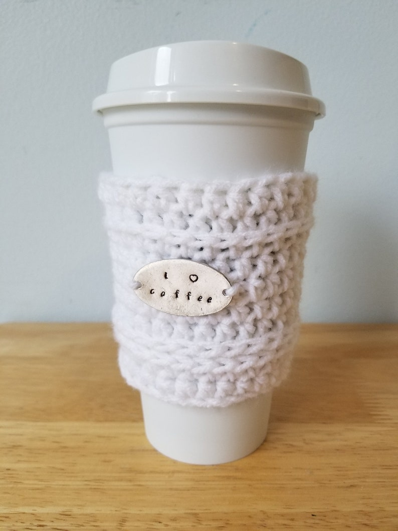 White Personalized Coffee Holder image 0