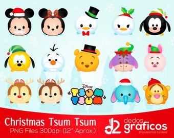 Christmas Tsum tsum clipart, PNG graphics HD, disney tsum tsum, christmas clipart, party, christmas, printable