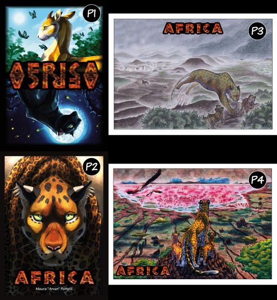 AFRICA Comic Posters