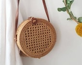 Bali rattan bag and large model cannage - The Pompon House