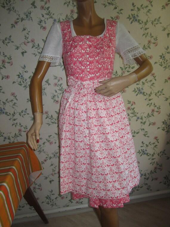 80s Dirndl, 80s Tyrolean folk dress, 80s austrian